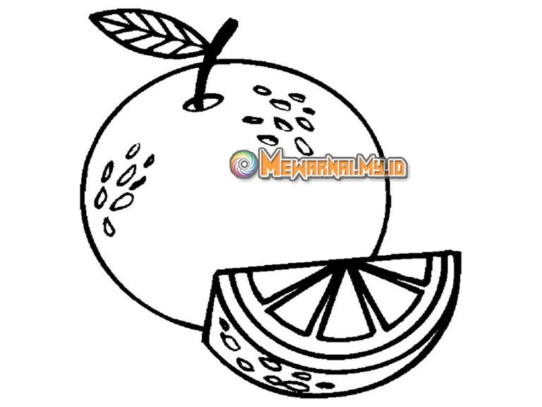cara menggambar buah lemon